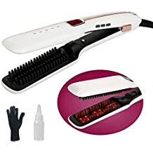 Mx Kingdom alisador de cabello Pincel Vapor plano hierro para cabello 3 en 1 Professional turmalina