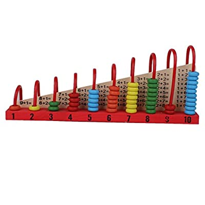 Kids Educational Intelligence Toy Wood Abacus Maths Counters from Generic