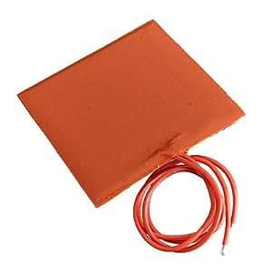 CAMTOA DC 12V 10W Tapis Coussin Couverture Chauffant Électrique Silicone caoutchouc flexible chauffant tapis pad 60*60mm
