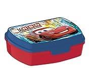 1scatola a merenda Lunch Box ideale per la merenda dei bambini. Dimensioni: 16x 11x 5.5cm Materiale PVC Disney Cars Racing Sport lavabile in lavastoviglie e micro onde colore rosso e blu Marca Norme CE