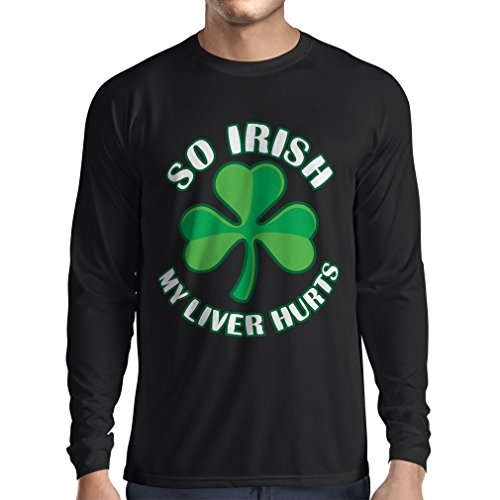 t-shirt-manches-longues-st-paddys-day-sayings-shirts-so-irish-xx-large-noir-multicolore