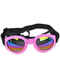 Meisijia Pet Dog UV di protezione pieghevoli Occhiali da sole Maschere Lenti con cinghia regolabile xUG4l