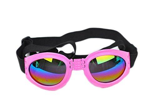 scrox faltbar Sonnenbrille für Haustiere Schutzbrille gegen die Sonne Rose