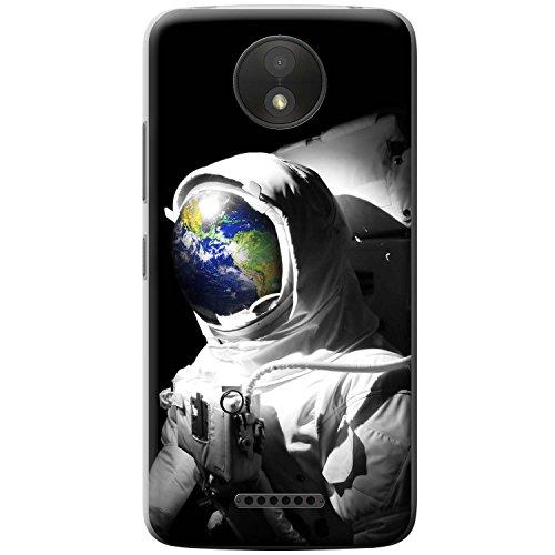 Astronautenanzug & Spiegelbild der Erde Hartschalenhülle Telefonhülle zum Aufstecken für Motorola Moto C