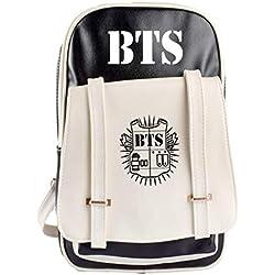 DJHFJ 1PC BTS Bangtan Boy BTS bolsa Rap Monster por Jimin bts Jin bts Suga por Jungkook bts Koya bts V bts J Hope Bolso coreano de poliéster para los fanáticos de BTS (negro)