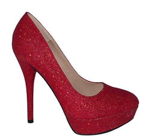 Elara - Scarpe con plateau Donna , Rosso (rosso), 39 EU