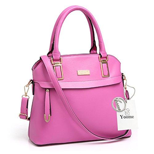 Yoome Street Style Top Handle Satchel Elegant Taschen Für Frauen Satchel Handtaschen Make-up Beutel Tasche - Weiß Rose