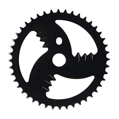 "01310401 Fahrrad Kettenblatt 44T 1-fach 1 1/8\"" - 44 Zähne Stahl hinten schwarz"