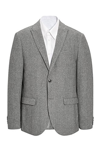 next Homme Slim Fit Veste Gris Clair