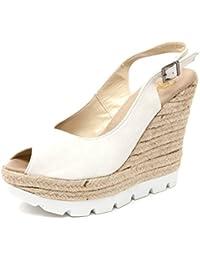 B5009 sandalo donna ESPADRILLES PASEO scarpa zeppa panna shoe sandal woman 32f383660ae