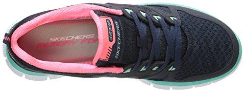 Skechers Donna Flex Appeal - Adaptable Scarpe Sportive Donna Blu (Blau (NVGR))