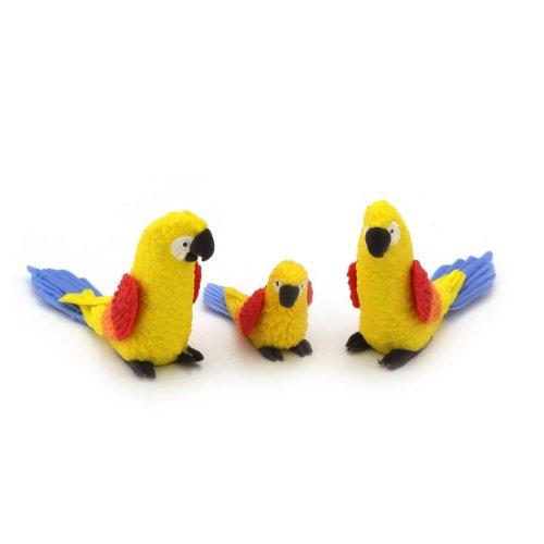 MyTinyWorld 3 jaune maison de poupées miniature PERROQUETS AVEC Multicoloré ailes