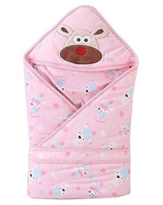 Happy Cherry - Saco Manta de Bebés Niños Niñas de Dormir Acolchado Algodón Invierno Animal Recien nacidos 0 1 2 años - Rosa