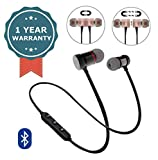 Shaarq Magnetic Sports Stereo Bluetooth Headset with Round Pouch Case for All Smartphones/iPhone