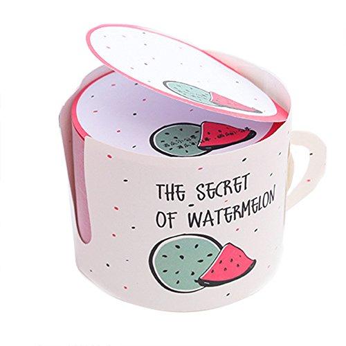 zen Teetasse Form Wassermelone Selbstklebende Kreative Notizblock Nachricht Haftnotizen Notizen Lesezeichen Sticky Notes für Ideen Schule Geschenk Büro 6 * 6 * 5cm ()