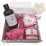 Romantique NUIT EN CADEAU ENSEMBLE AVEC Romance Huile de massage, cœur Bombe de bain et bougie parfumée idéal pour Saint-Valentin ou Couples cadeau à partager