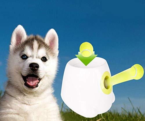 XIAOD Hund automatische Pitching Maschine Ifetch automatische Ballwerfer, Tennis Launcher Geeignet für Hunde unterschiedlichen Alters, darunter 3 Tennisbälle und Ladegerät -