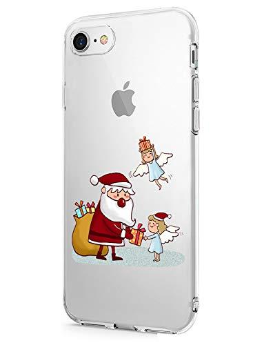 Fvntuey Fundas Compatible con iPhone 7 / iPhone 8 Funda TPU Christmas Winter Veil...