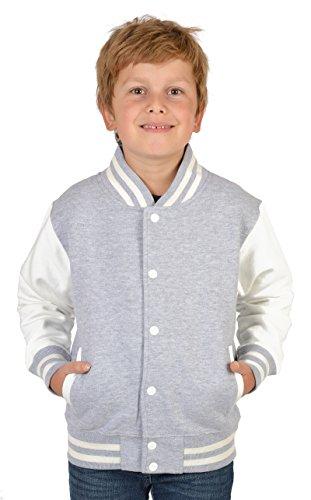 coole und lässige Jungen College Jacke: Panther Farbe: grau