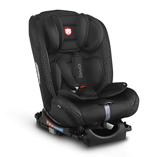 Lionelo Sander Kindersitz Auto Isofix in und gegen Fahrtrichtung Top Tether Gruppe 0 1 2 3 ab Geburt bis 36 kg ECE R 44 04 TÜV SÜD (Schwarz)