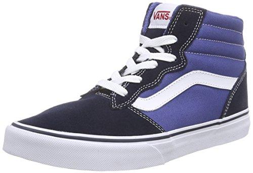 Vans Y Milton Hi, Unisex-Kinder Hohe Sneakers, Blau ((Suede Canvas) Navy/stv Navy), 37 EU