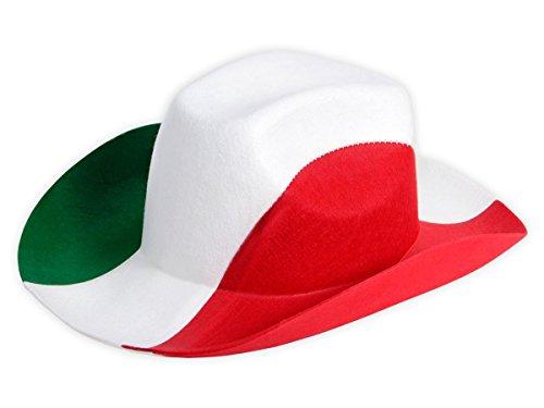 Kostüm Italien Un - Alsino Cowboyhut Italien Fanhut 00/0999 Fußball Grün Weiß Rot Fanartikel Fußballhut