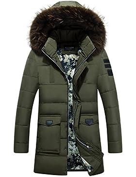 MHGAO Larga capa de los hombres espesa la chaqueta abajo , green , xl