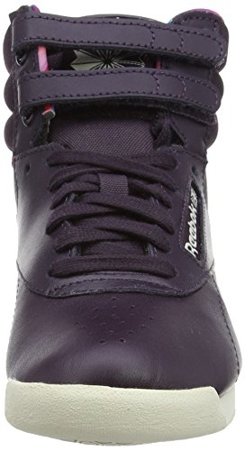 Reebok Freestyle Hi Geo Graphics, Baskets Hautes femme Violet - Purple (Nght Violet/Pprwht/Pppy Red/Cnrd Blue/Orchd)