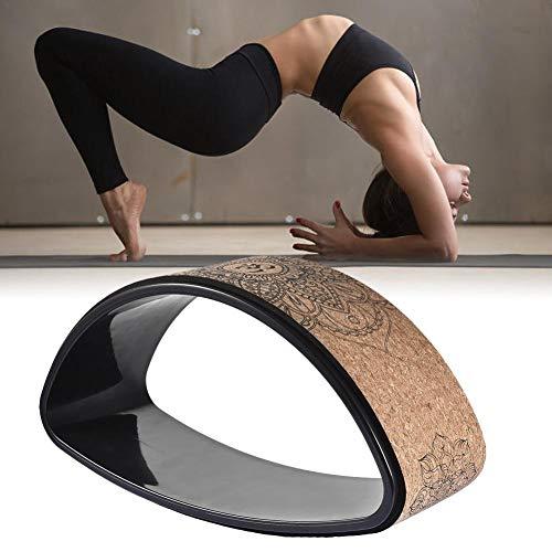 Yoga Rad Wheel – Yoga Rad Kork – Zum Dehnen Und Verbessern Von Rückbeugen, Yoga Prop Rad Zur Verbesserung Ihrer Flexibilität, Ihres Gleichgewichts Und Ihrer Kraft
