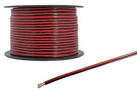100metres 2Core Noir Rouge 12V 12V câble d'extension Amp Car Auto van Bateau Bande LED Audio Speaker Wire par Wire4u ®