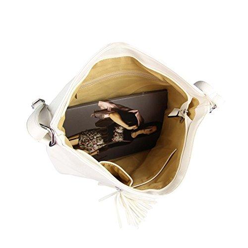 OBC Only-Beautiful-Couture, Borsa a spalla donna bianco bianco ca.: 39x32x15 cm (BxHxT) nero