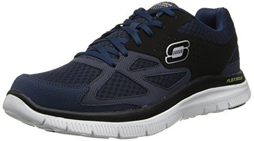 skechers-flex-advantage-master-plan-herren-sneakers-blau-nvbk-44-eu