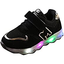 K-youth® Zapatos LED Niños Niñas Zapatillas Niño Zapatillas Para Bebés Zapatos de Bebé Zapatillas de Deporte Antideslizante Zapatillas con Luces Para Niñas Niños