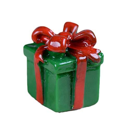 fish 4Pcs/Set Christmas Snowman Gift Box Ornaments Christmas Car Resin Ornament Props Random Version/Color