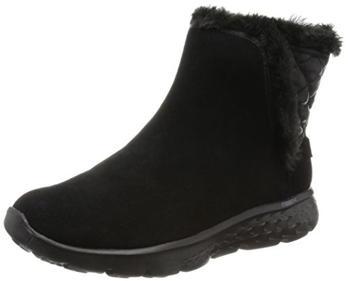 Skechers Damen On-The-Go 400 Cozies Kurzschaft Stiefel, Schwarz (BBK), 37 EU (Skechers Leder Fashion Stiefel)