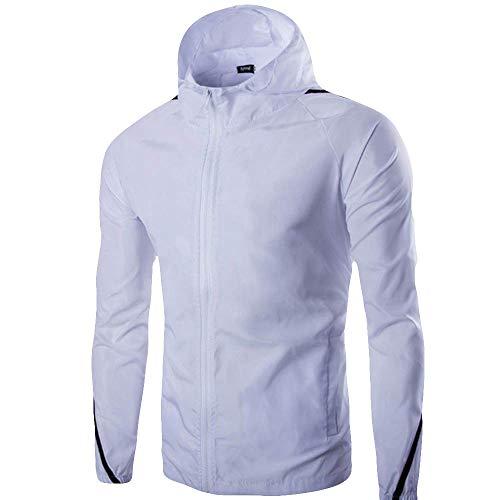 Reine Farbe Zipper Pullover Langarm-Kapuzen-Sweatshirt Tops Bluse Ki Lene Herren