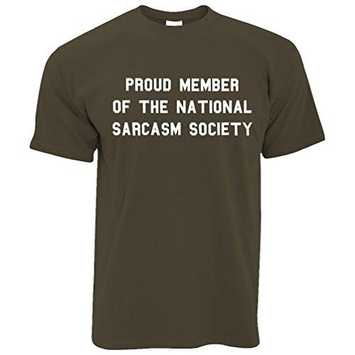 Stolzes Mitglied der nationalen Sarkasmus-Gesellschaft lustiger Slogan Sassy Herren T-Shirt Khaki
