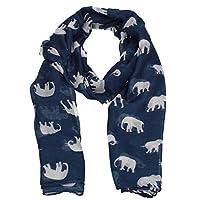 SWANKYSWANS Nelly Elephant Animal Print Womens Warm Winter Shawl Scarf