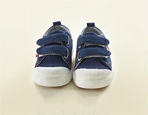Schuhe gr枚脽e Kinder der zu Aufkleber helfen niedrig beil盲ufige Schuhe Dunkelblau farbe Kinder Brett Dunkelblau um ALUK Die Segeltuch Magie Schuhe koreanische 25 wxE8qH