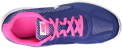 Nike Damen Wmns Revolution 3 Trainingsschuhe Multicolore (Dk Purple Dust/White-Pink Blast)