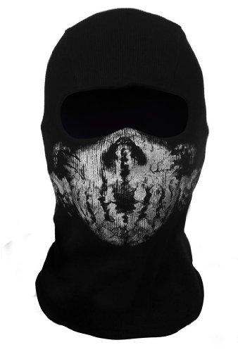 LandPure® Sturmmaske Totenkopf Ghost Motorradmaske Gesichtmaske Maske Call of