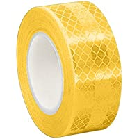 TapeCase 0.625-5-3431 Cinta reflectante con láminas microprismática, color amarillo, procedente de 3M 3431, 1,58cmx4,57m