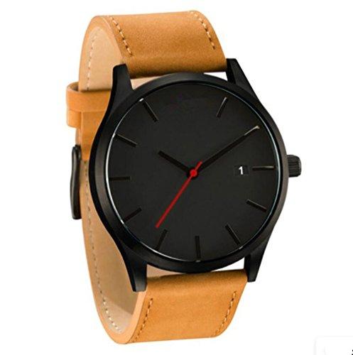 Uhr Herren Armbanduhr Herren Business Herrenuhren Armbanduhren Edelstahl Zifferblatt Leder Metall Uhrarmband (6) (G-shock-watch-weiß-grün)