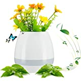 Bluetooth Speakers Night Light Breathing Light Music Flower Pots Smart Plant Pots Play Music By Touching Plants Rechargeable Indoor Outdoor Office Home Decor Festivel Gift USB Charger Smart Round Cute Plant Pots Music Flower Pot Smart Touch Plant Piano Bl