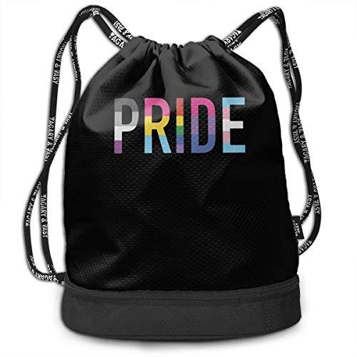 Pride LGBT Entry Way Drawstring Rucksack für Herren und Damen, 100% Polyester Athletic Shoulder Bags