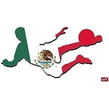 Fútbol - Futbolista con Camiseta, México Pegatina para Pared ...
