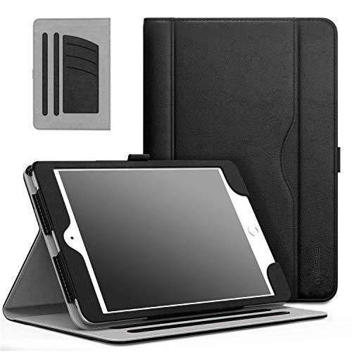 MoKo Hülle für iPad Mini 3/2 / 1 - Kunstleder Ständer Tasche Schutzhülle Smart Case Cover mit Dokumenteschlize Karte Slot und Standfunktion für Apple iPad Mini 3 / Mini 2 / Mini 1. Gen, Schwarz - Ipad Apple Case 1
