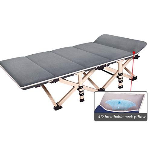 Klappbett fischenstuhl oder Camping lehnstuhl Stuhl Faltbare Liege mit 4D atmungsaktive Kissen/unterstützung 150 KG/größe 190 * 71 * 36 cm