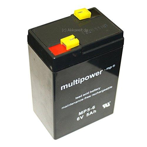 5Ah al Piombo Gel batteria ricaricabile 6V 4,5Ah Multi Power mano faretto AMPERLED ScoutLED JohnLite CY 01124Ah Q Power QP6-4.56-42Peg Perego-4.5-6Smoby PS 640PS640RS AC3172rsac3172rsac317Fiat 500NX1100NX auto per bambini 1210Sheng Yang SY640D Ansmann Powerlight 5.1Streamlight Fire Vulcan Fanale a mano alogeno PL 837HN LiteXpress LXSP 101qiang jun qiangjing Consent gs6V4ah Varta Lantern LED 4008496677122Accu Batteria non-ricaricabile