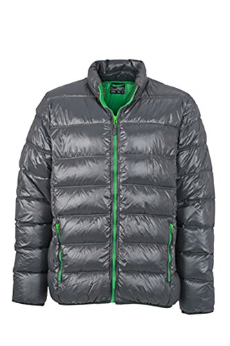 Men's Winter Down Jacket im digatex-package graphite/fern-green